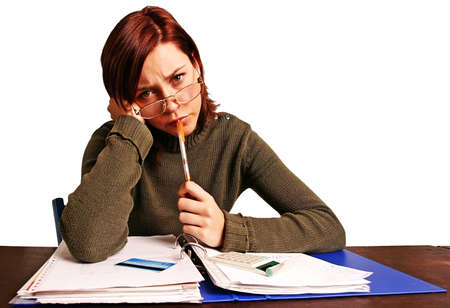 girl, young woman having financial problems Stock Photo - 552064