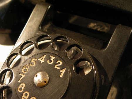 old-style black telephone