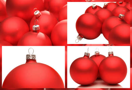 Red christmas decoration on white background.