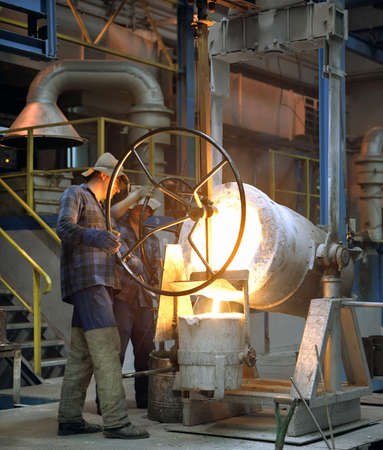 moulder: Iron foundry in Klodzko, Poland- moulder at work