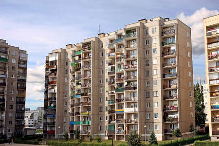 architecture-dwelling-house,bloks of flats in suburbs Stock Photo - 679720