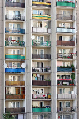 architecture-dwelling-house,bloks of flats in suburbs -close up Stock Photo - 679722