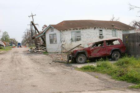 Damage From Hurricane Katrina 版權商用圖片 - 360411