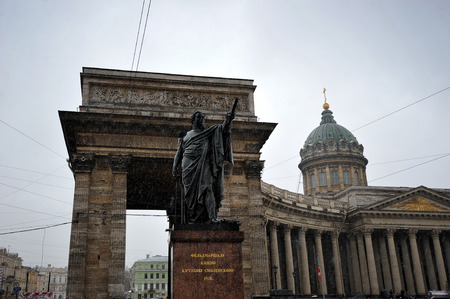 kazanskiy: Kazan Cathedral and the monument to Kutuzov, St. Petersburg, Russia