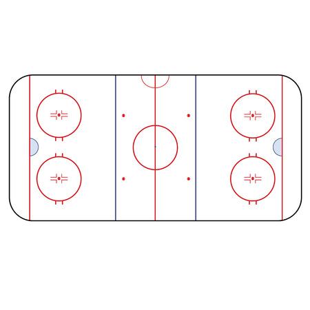아이스 하키 링크 - 경기장 하키 버전 IIHF 스톡 콘텐츠 - 36571275