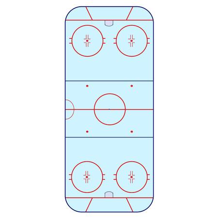 hockey rink: Ice Hockey Rink -  playing field hockey version NHL