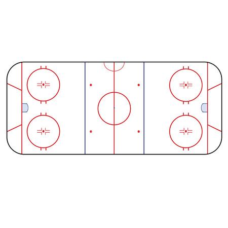 Ice Hockey Rink -  playing field hockey version NHL