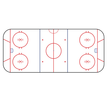 Ice Hockey Rink Playing Field Hockey Version Nhl Royalty Free