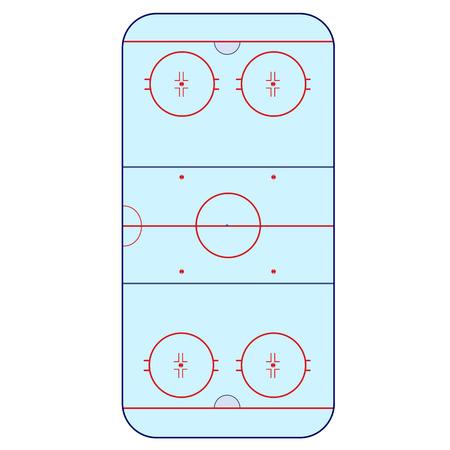 hockey rink: Ice Hockey Rink -  playing field hockey version IIHF