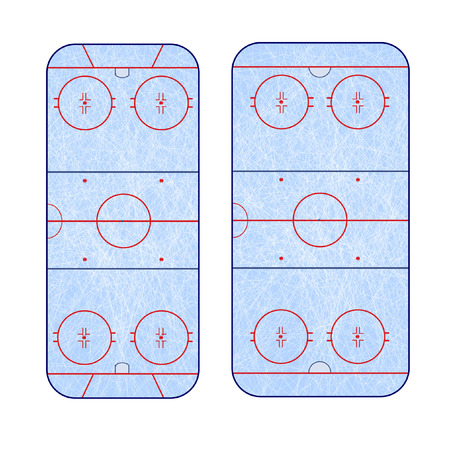 rink: the difference in the markup of the ice hockey rink