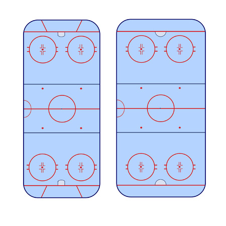 markup: the difference in the markup of the ice hockey rink