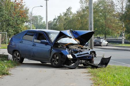 gebroken in een auto-ongeluk