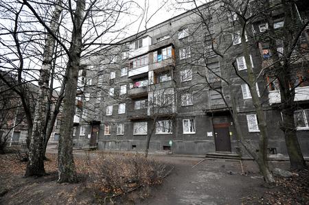 wornout: old worn-out five-storey building (no lift) in Kaliningrad (königsberg), Russia