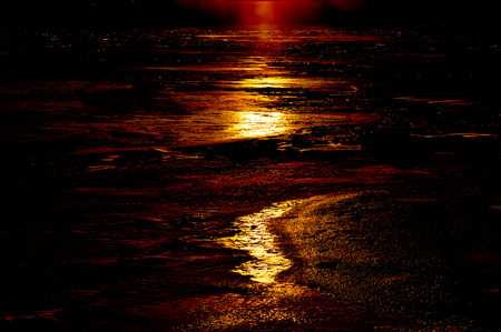 martian: abstract background - lunar, Martian landscape Stock Photo