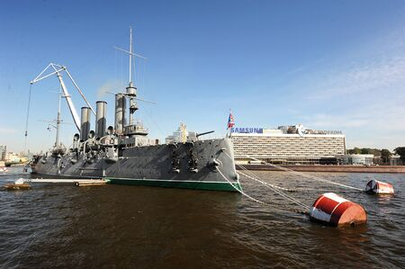 St. Petersburg, Russia - 17 SEPTEMBER: the dismantling of the symbol of the October revolution cruiser Aurora on SEPTEMBER 17, 2014, St. Petersburg, Russia