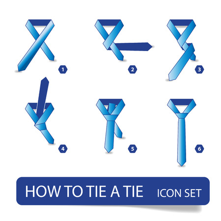 instructions - how to tie a tie