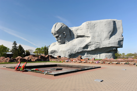 winning location: The monument to the defenders of the Brest fortress and the Eternal flame , Belarus