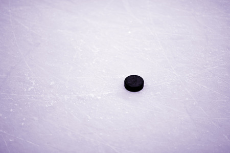 wintrily: hockey puck on ice