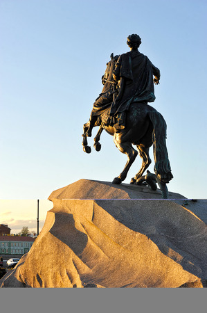 peter the great: ST.PETERSBURG, RUSSIA - MAY 13, 2015: monument of Peter the great in St. Petersburg, Russia