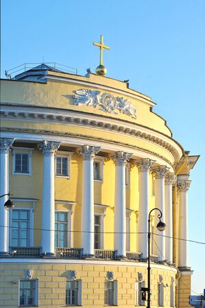 synod: The building of the Senate and Synod in St. Petersburg