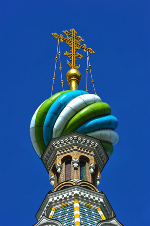 british ethnicity: domes of Orthodox Church of the Savior on blood in St. Petersburg