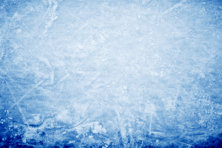 frozen lake: abstract background - hockey markings on ice Stock Photo