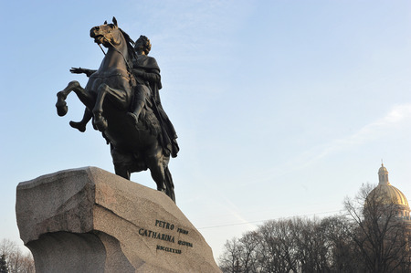 uomo a cavallo: Monument of Russian emperor Peter the Great, known as The Bronze Horseman, Saint Petersburg , Russia