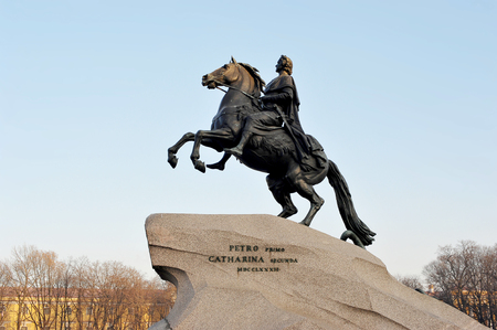 horseman: Monument of Russian emperor Peter the Great, known as The Bronze Horseman, Saint Petersburg , Russia
