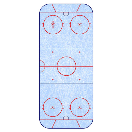 ice surface: Ice Hockey Rink -  playing field hockey version NHL
