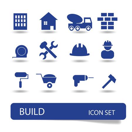 building construction: Web icon set - building, construction