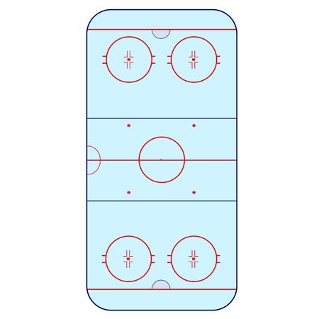 playing field: Ice Hockey Rink -  playing field hockey version IIHF