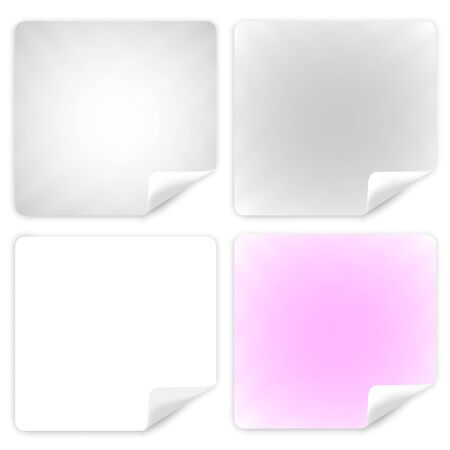 empty square leaves of paper gray and pink. paper for notes