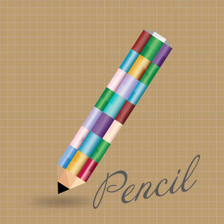 pensil: vector illustration - colored pencil Illustration