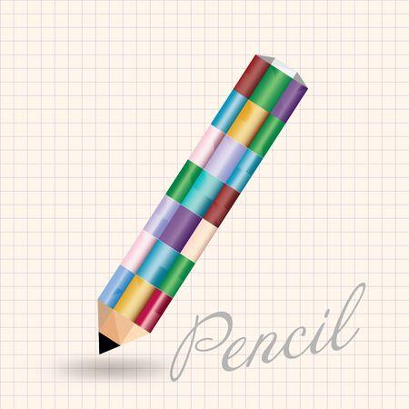 pensil: vector illustration - colored pencil Illustration