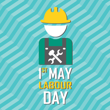 May 1st Labor (labour) day illustration conceptual construction stock vector. Illustration