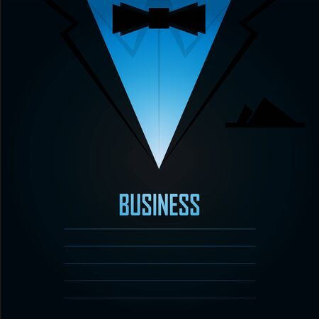 handkerchief: Business mens suit with tie and handkerchief - vector illustration Illustration