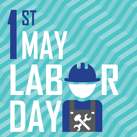 labour day: May 1st Labor (labour) day- vector illustration of international labour day Illustration