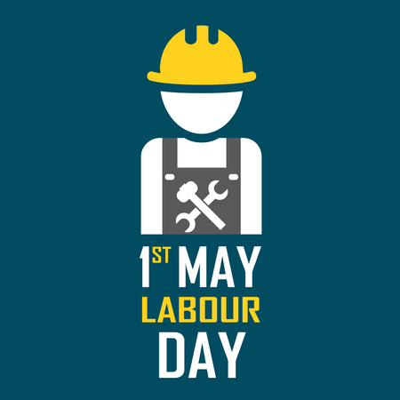 labour day: May 1st Labor (labour) day illustration conceptual construction stock vector