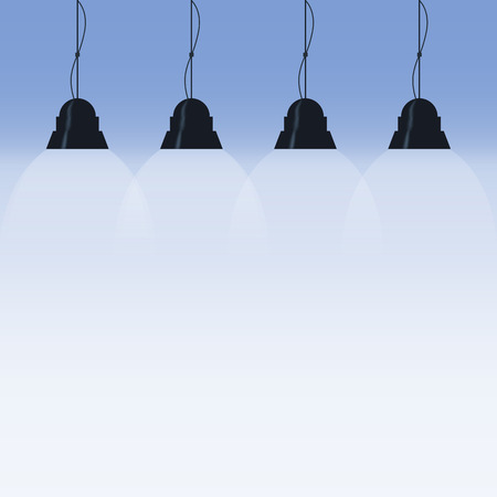 lit image: background is lit by lamps. concept of the idea. vector image Illustration