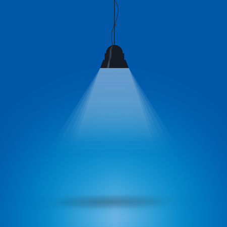 lit image: background is lit by lamps. concept of the idea. vector image. Illustration