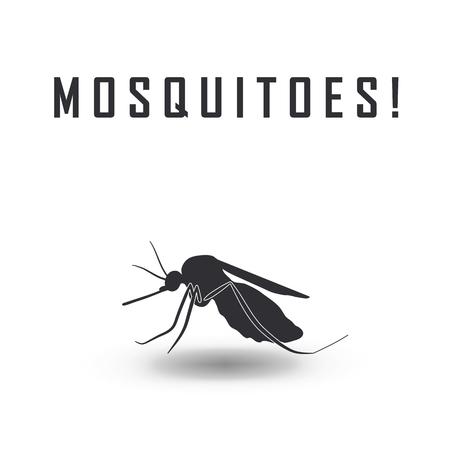 image vectorielle d'un moustique et le risque de paludisme - les moustiques panneau d'arrêt
