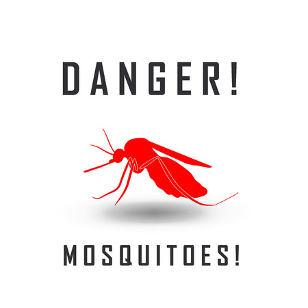 no mosquito: the mosquitoes stop sign - vector image of a mosquito and the risk of malaria