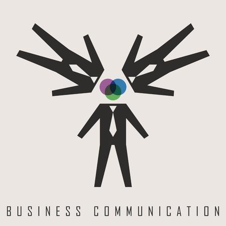 business communication: vector illustration of business communication
