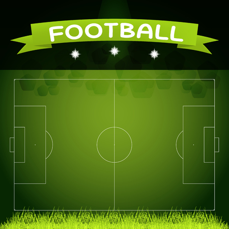 image size: vector image of the size of a football field in real proportions