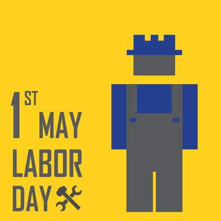 labour day: May 1st Labor (labour) day illustration conceptual construction stock vector.EPS10