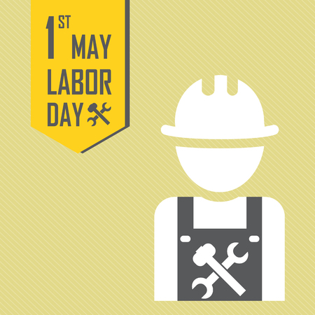 labour day: May 1st Labor (labour) day illustration conceptual construction stock vector. Illustration