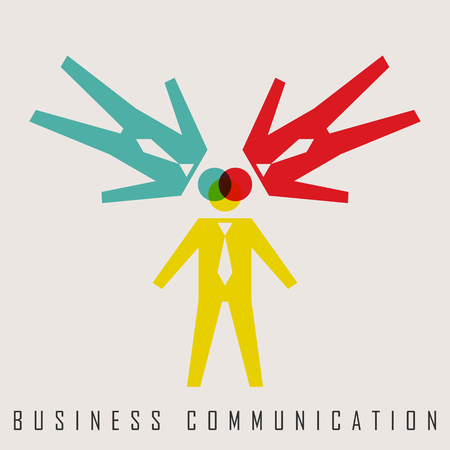 business communication: vector illustration of business communication