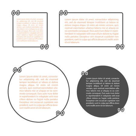 Template vector quotes quote blank template empty template template vector set with quotes quote blank templateempty template card template accmission Choice Image