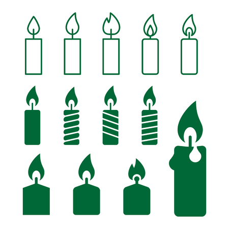 paraffin: icons set of candles