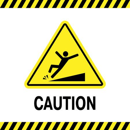 sign of danger of falling